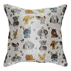Spencer Home Decor First in Show Dog Reversible Throw Pillow