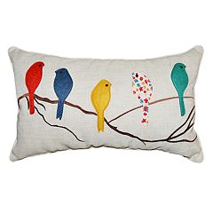 Spencer Home Decor Megan Bird Oblong Throw Pillow