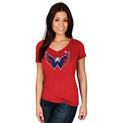 Women's Majestic Washington Capitals Logo Tee