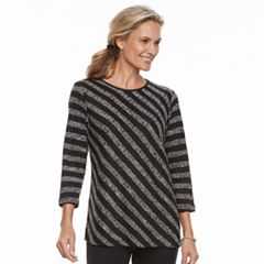Women's Cathy Daniels Asymmetrical Striped Sweater