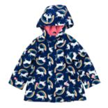 Toddler Girl Carter's Unicorn & Rainbows Lightweight Rain Jacket