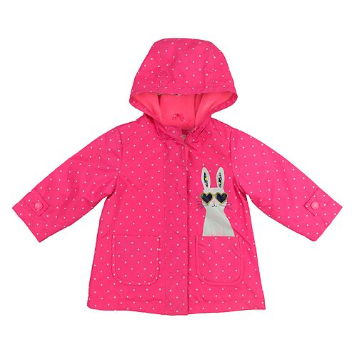 Toddler Girl Kiko & Max Polka-Dot Hooded Raincoat