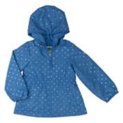 Toddler Girl OshKosh B'gosh® Foiled Hearts Hooded Jacket