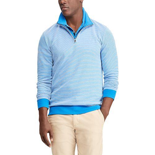 Men's Chaps Classic-Fit Easy-Care Knit Quarter-Zip Pullover