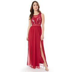 Juniors' IZ Byer Sequin Lace Prom Dress