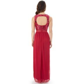Juniors' IZ Byer Sequin Lace Prom Dress