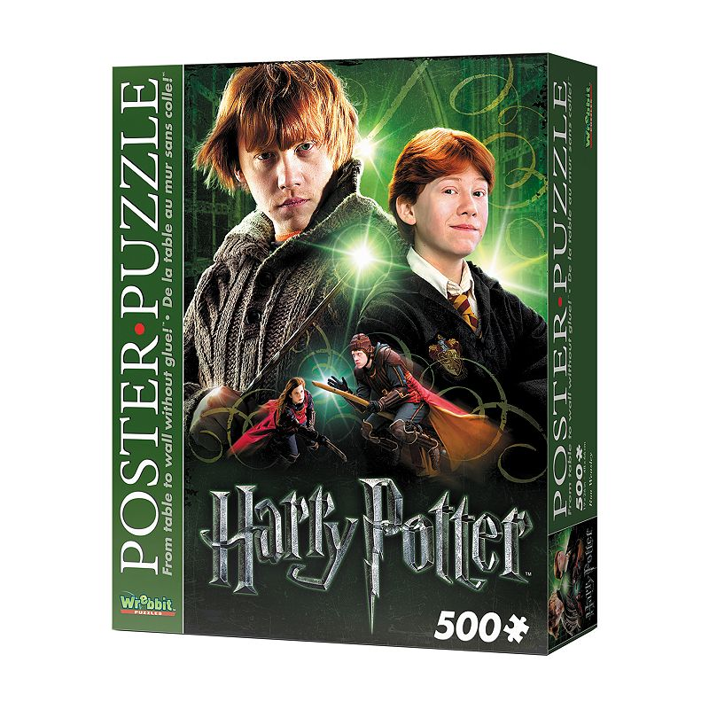 Wrebbit Ron Weasley 500-pc. Poster Puzzle The whole family will love putting together this Wrebbit Ron Weasley 500-pc. Poster Puzzle! Foam-backed 500-piece puzzle Converts into an actual poster thanks to snug fitting pieces No glue needed 500 pieces 0.2''H x 19''W x 26''D Age: 12 years & up Laminated paper on polyethylene foam Imported Model no. 193404 Size: One Size. Color: Multicolor. Gender: unisex. Age Group: kids.