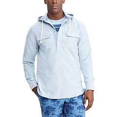 Men's Chaps Classic-Fit Woven Pullover Shirt Hoodie