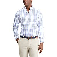 Men's Chaps Classic-Fit Moisture-Wicking Woven Button-Down Shirt