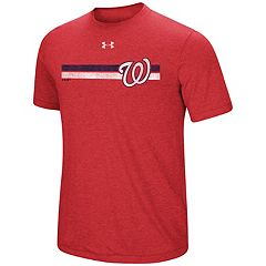Men's Under Armour Washington Nationals Heat Gear Stripe Tee