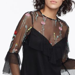 k/lab Floral Embroidered Lace Dress