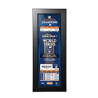 Houston Astros 2017 World Series Champions Framed Ticket Print