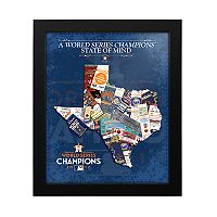 Houston Astros 2017 World Series Champions State of Mind Framed Wall Art