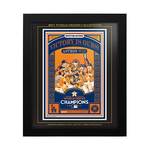 "Houston Astros 2017 World Series Champions Sports Propaganda Framed 13"" x 16"" Digital Print"