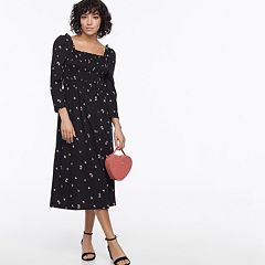 k/lab Smocked Floral Knit Midi Dress