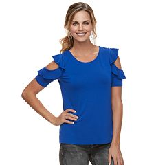 Women's Apt. 9® Ruffle Cold-Shoulder Tee