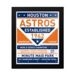 Houston Astros 2017 World Series Champions Framed Team Sign Print