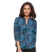 Women's Dana Buchman Printed Splitneck Top