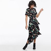 k/lab Asymmetrical Tiered Ruffled Dress