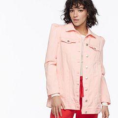k/lab Puff Sleeve Denim Jacket