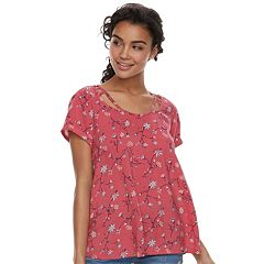 Juniors' SO® Cold-Clavicle Tee