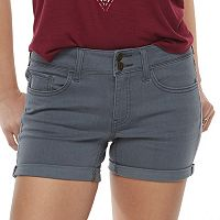 Juniors' SO® Cuffed Midi Jean Shorts