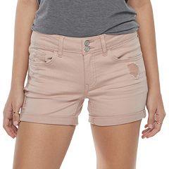 Juniors' SO® Cuffed Midi Jean Shorts