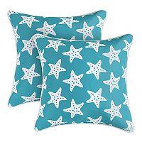 Coastal Icon 2-pack Indoor Outdoor Throw Pillow Set