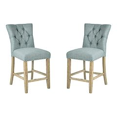 INSPIRED by Bassett Preston Tufted Counter Stool 2-piece Set