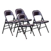OSP Designs Bristow Metal Folding Chair 4-piece Set