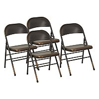 OSP Designs Bristow Metal Folding Chair 4 pc Set