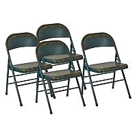OSP Designs Bristow Metal Folding Chair 4-piece Set