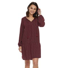 Petite SONOMA Goods for Life™ Tie Neck Peasant Dress