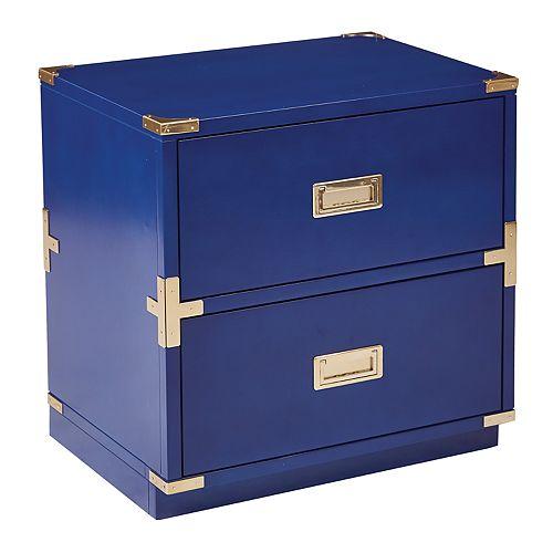 OSP Designs Wellington Suitcase 2-Drawer End Table