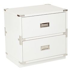 OSP Designs Wellington Suitcase 2-Drawer End Table