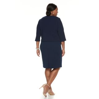 Plus Size Maya Brooke Embellished Dress & Jacket Set