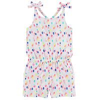 Toddler Girl Carter's Polka-Dot Jersey Romper