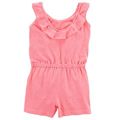 Toddler Girl Carter's Eyelet Pink Knit Romper