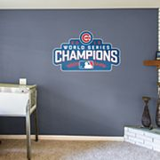 Chicago Cubs 2016 World Series Champions Logo Wall Decal