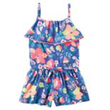 "Toddler Girl Carter's ""Smile"" Rainbow Top & Rain Cloud Pattern Skeggings Set"