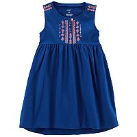 Toddler Girl Carter's Embroidered Tank Dress