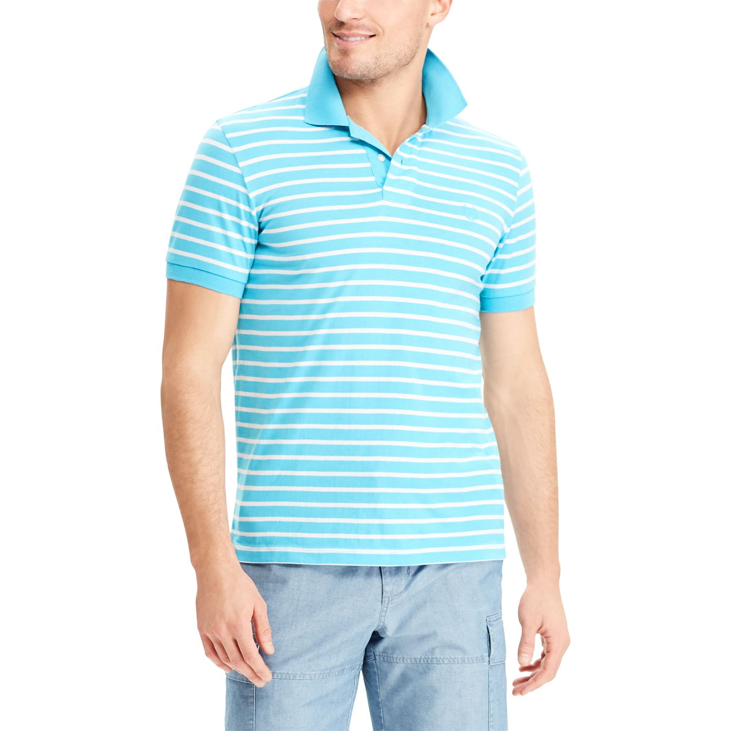 Men\u0027s Chaps COOLMAX Classic-Fit Striped Performance Polo