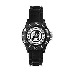 Marvel Avengers Logo 'I Choose Unity' Men's Watch