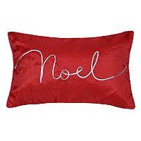 Spencer Home Decor Holiday ''Noel'' Ribbon Oblong Throw Pillow