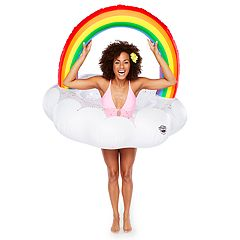 Big Mouth Inc. Rainbow Cloud Pool Float