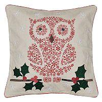 Spencer Home Decor Holiday Snow Owl Throw Pillow