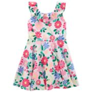 Toddler Girl Carter's Floral Ruffle Dress