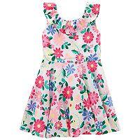 Toddler Girl Carter's Floral Ruffle Dress