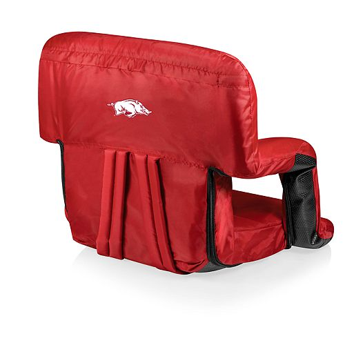 Picnic Time Arkansas Razorbacks Ventura Portable Recliner Chair
