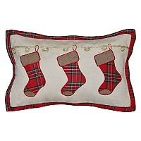 Spencer Home Decor Holiday Chimney Stockings Oblong Throw Pillow